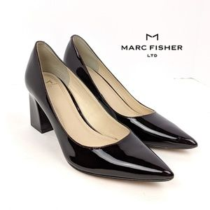 Marc Fisher Zala Leather Block Pumps